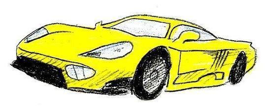 нарисовать машину карандашом