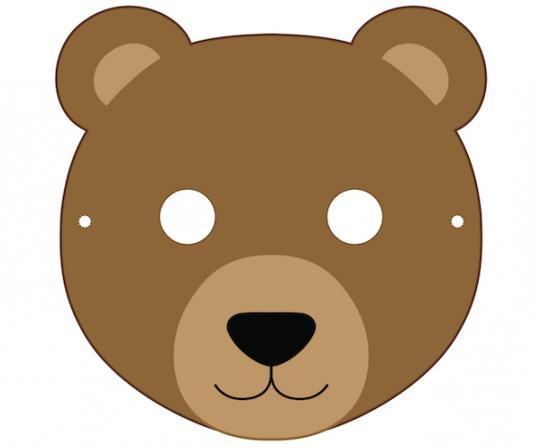 как сделать маску медведя своими руками