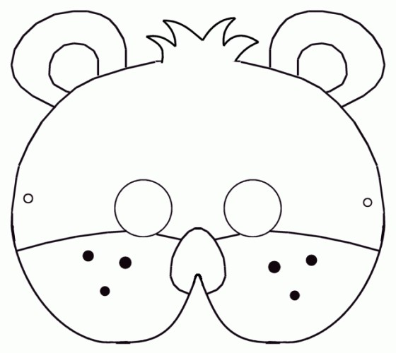 маска медведя своими руками