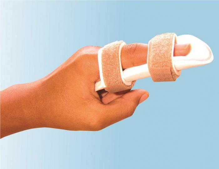 Лангетка на палец руки своими руками