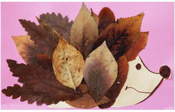 Картина из осенних листьев как отличный способ украсить ваш дом