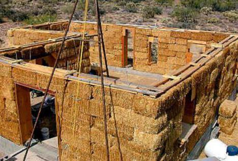 как сделать дом из соломы