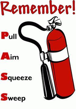 правила пользования огнетушителем оу