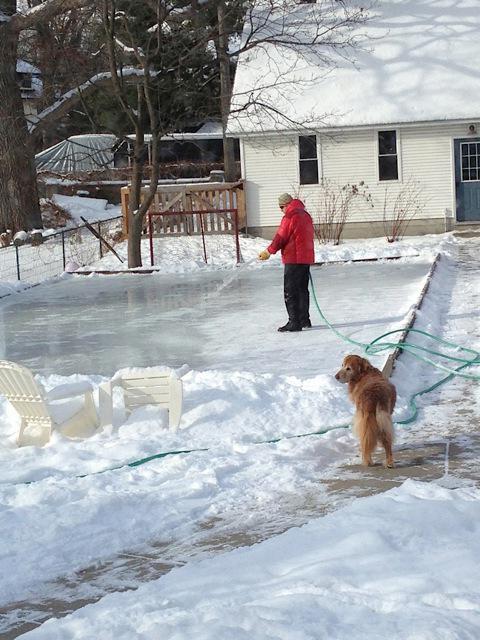 как залить каток во дворе