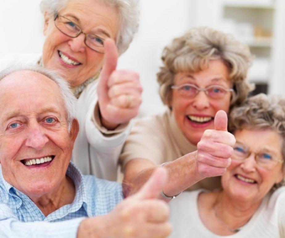 Joyful senior citizens