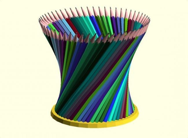 Карандашница из карандашей своими руками из 64