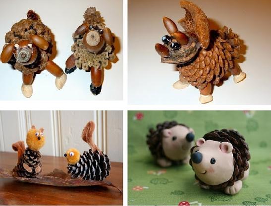 Поделки из животных из шишек 20