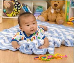 вязание пледа для новорожденного спицами