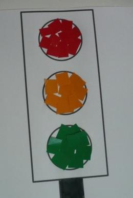 детские поделки светофор