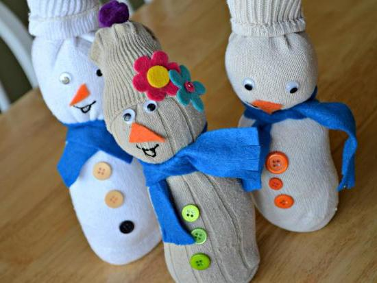 Новогодний сувенир снеговик своими руками