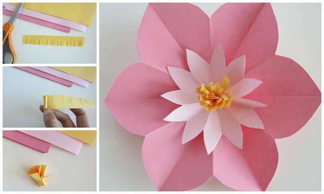 Картинки цветы своими руками из бумаги самые простые 5