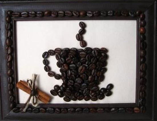 Шаблоны для картины из кофейных зерен своими руками