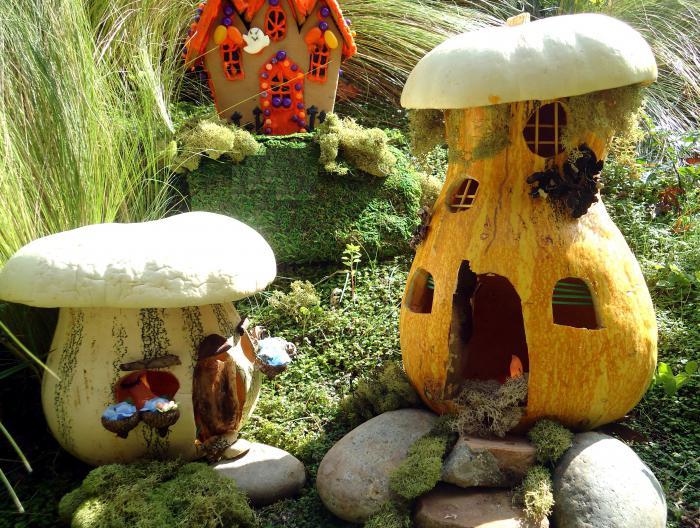 Поделки в детский сад из декоративной тыквы 7