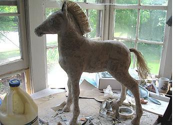 Бумажная лошадь своими руками