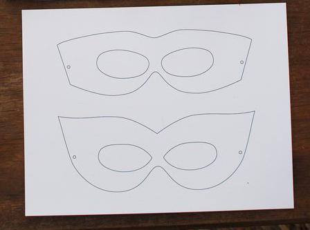 маска своими руками из картона