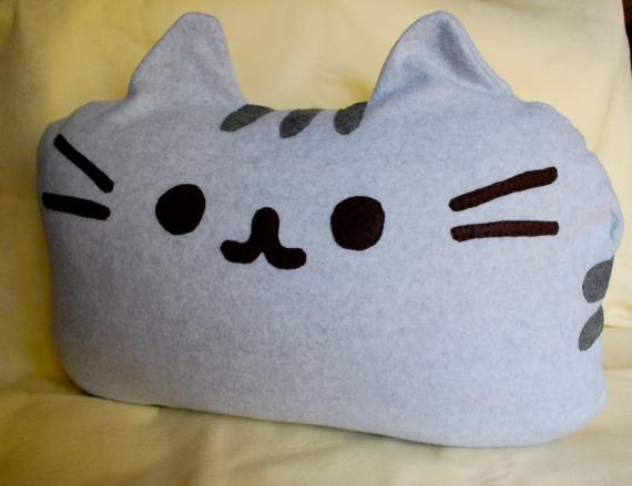 Как связать подушку спицами для кота
