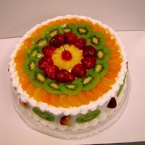 торт зефирный с фруктами