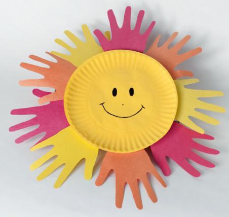 как сделать поделку солнышко