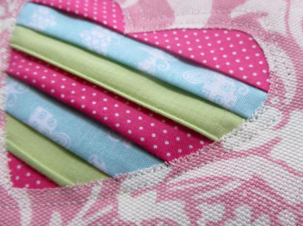 как сделать сердечко из ткани