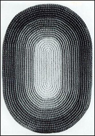коврик из капроновых колготок