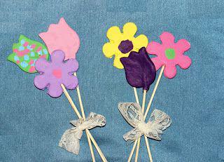 цветы из соленого теста