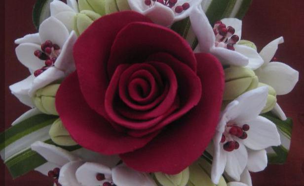 лепка цветов из соленого теста