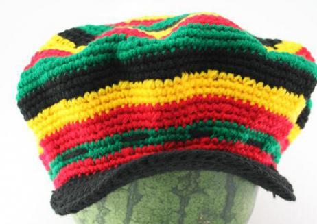 растаманская шапка крючком