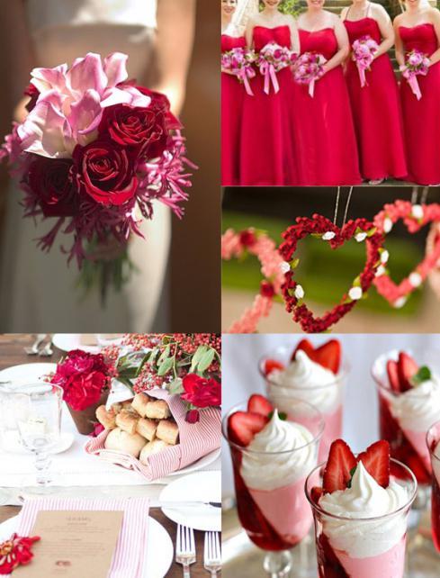 красный стиль свадьбы