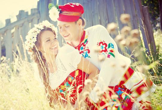 свадьба в народном стиле