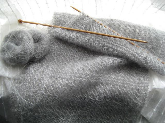 вязание кофт из мохера спицами