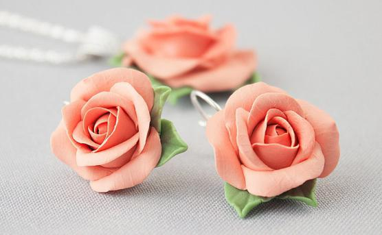 полимерная глина роза мастер класс