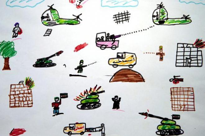 нарисовать рисунок на тему война