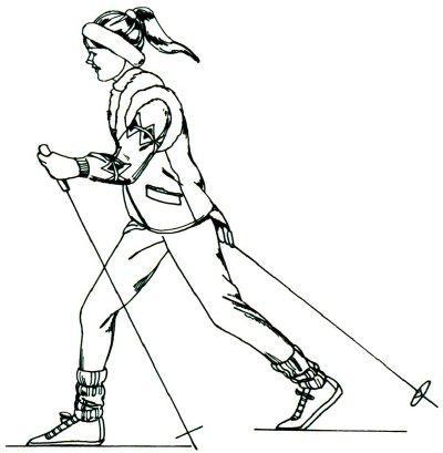 как нарисовать лыжника карандашом