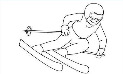 downhill skiing coloring pages - photo#25