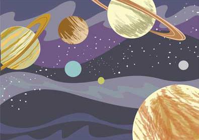 Как гуашью нарисовать космос поэтапно