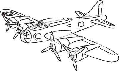 Как нарисовать самолёт ребёнку поэтапно