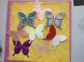 кружевные бабочки из набора