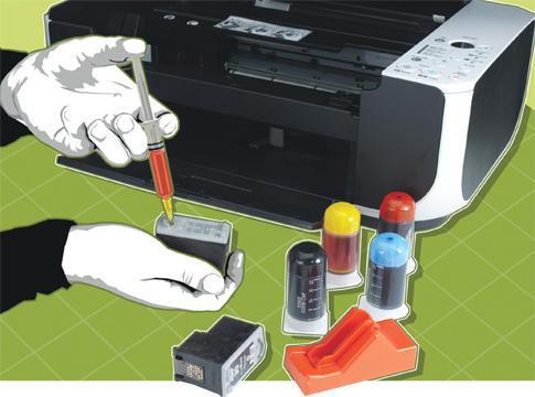 Как сделать чернила в принтере 419