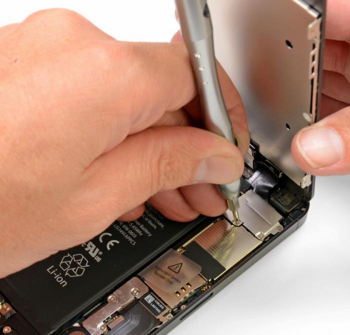 Замена дисплея на iPhone 5 своими руками