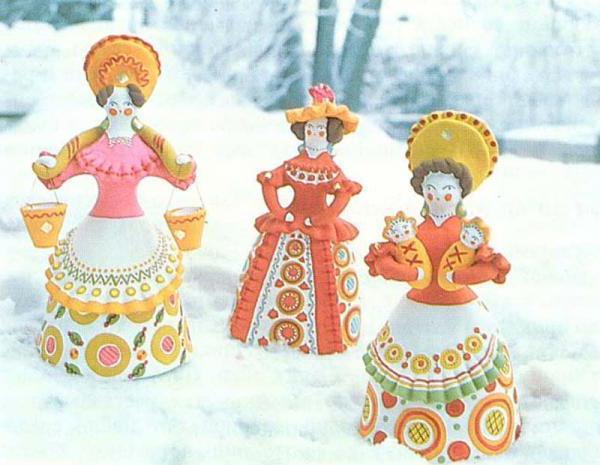 дымковская роспись картинки