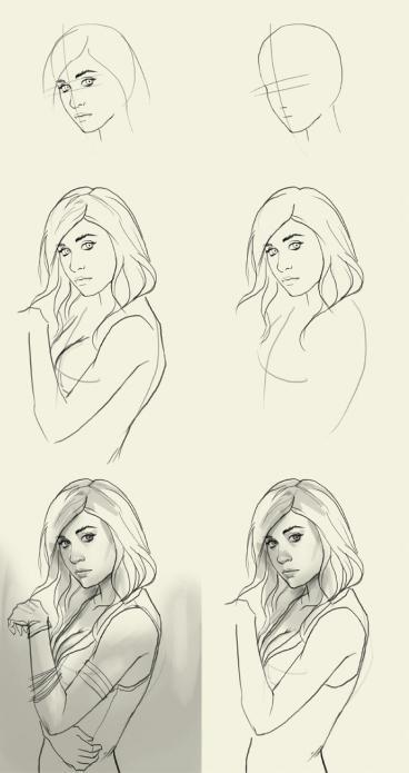 Как нарисовать карандашом девушку