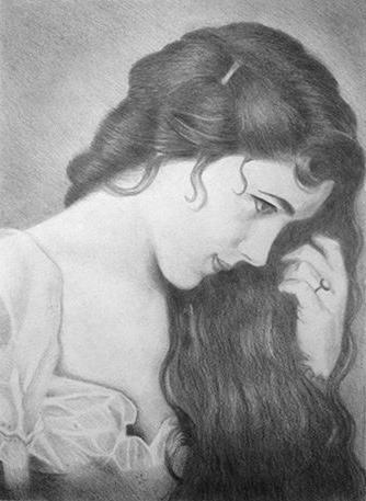 Как нарисовать портрет девушки карандашом