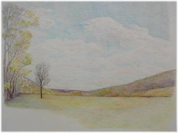 Картинки весны карандашом поэтапно