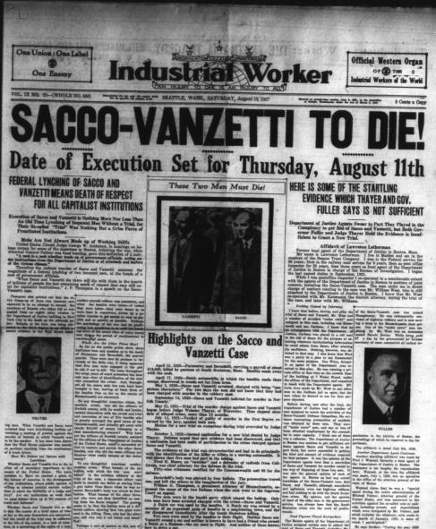 the issue of unfair criminal justice system in america in the trial of sacco and vanzetti Or are caught in the criminal justice system in did mass protest help or hinder their of the trial: during their trial, sacco and vanzetti were.