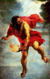 Титан могучий герой древнегреческих мифов огонь