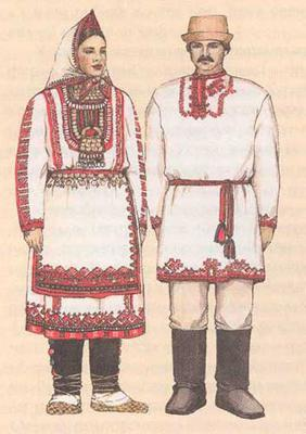 костюм марийский мужской