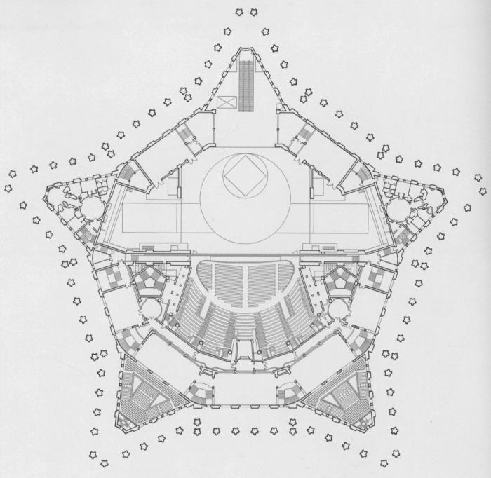Памятник Суворову органично