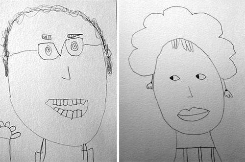 как нарисовать дедушку и бабушку поэтапно