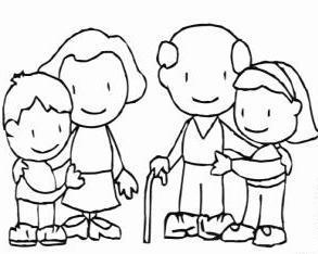 как нарисовать бабушку и дедушку