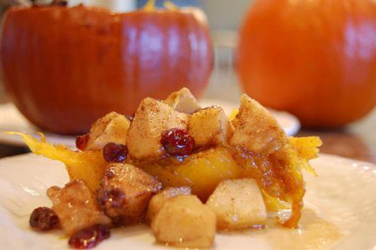 запеченная тыква в духовке с яблоками рецепт приготовления